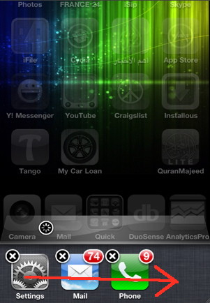 iphone song control in task switcher