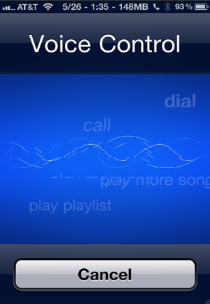 iphone music control with voice control