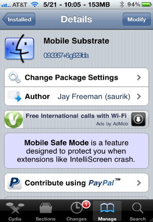 Solve iPhone problems caused by Cydia apps by removing the Mobile Subtrate