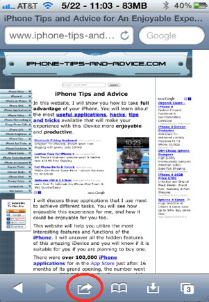 iPhone question: How to addd a bokmark in iPhone Safari