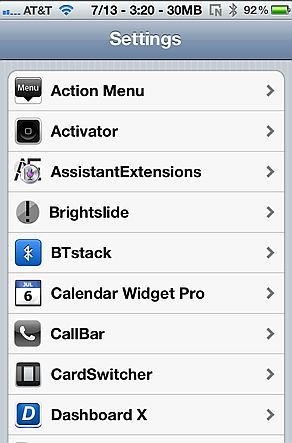 hacks in settings for iPhone