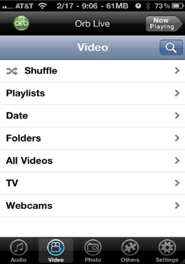Orblive can play any unsupported iPhone video format with real time conversion on the fly