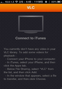 Transfere AVI to iPhone with VLC
