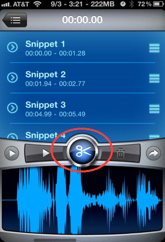 iSaidWhat is an iPhone audio editor