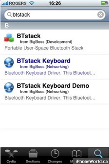 With BTStack you can connect any bluetooth keyboard to Iphone