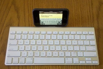 Apple Keyboard for iPhone works great with BTstack Keyboard