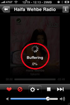 last.fm iphone buffering