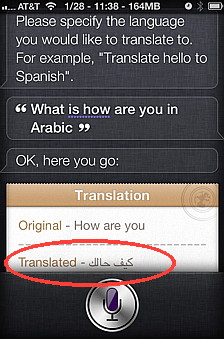 Lingual is a Siri hack that allows you to translate from one language to another