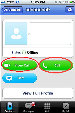 skype for iphone call button - free international calls