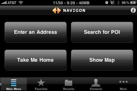 navigon iphone landscape