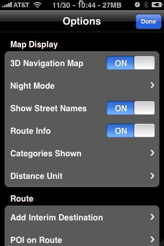 navigon-iphone-options map disp[lay