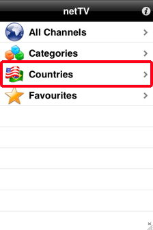 nettv tv on iphone countries