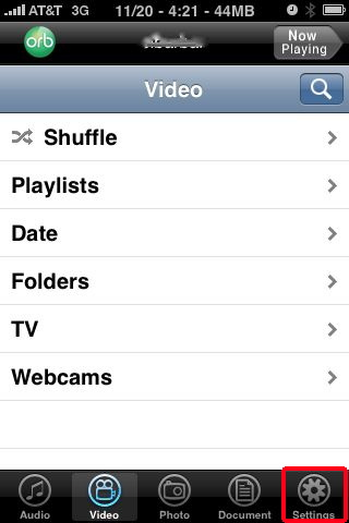 orblive settings, Watch iPhone TV