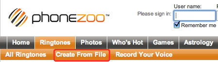 Phonezoo is an iPhone ringtone creator that uses the web to upload and convert mp3 to ringtones