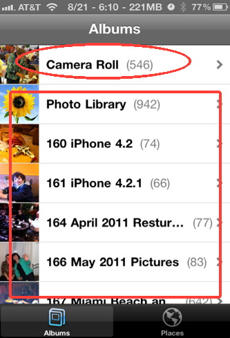 how to put photos from computer to iphone camera roll