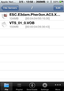 You can also play VOB files on iPhone with Oplayer