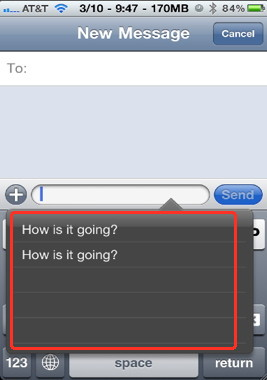 Make a quick text with SMS iPhone