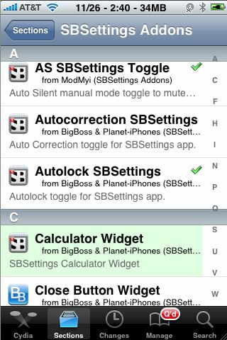 cydia section tab for iphone