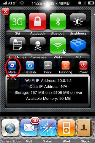 sbsettings settings for the iPhone