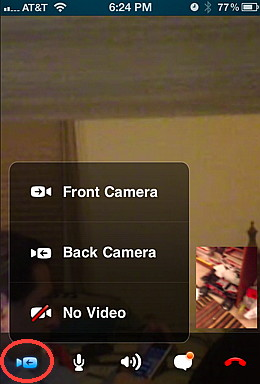 Skypr for iPhone can caht with video