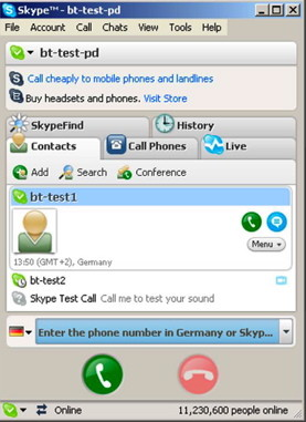 VoIP on iPhone and chat with Skype on PC