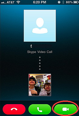 Answer calls with Skype for iPhone with voice or  video chat