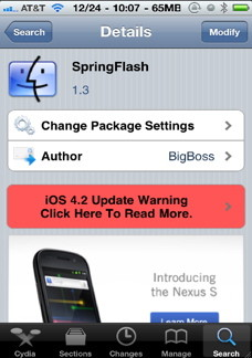 Spring Flash is the quickest way of accessing the iPhone flash just like any true flash light