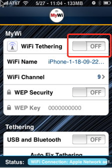 MiWi is the easiest way to tether iPhone