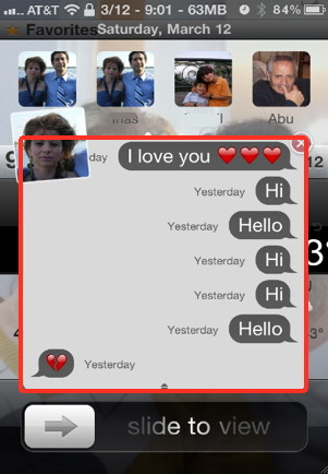 Text messages with biteSMS for the iPhone