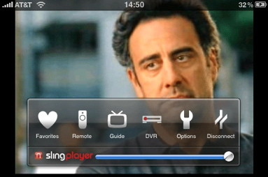 TV on iPhone with Slingplayer