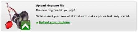 Upload iPhone ringtones to a website