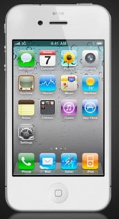 White iPhone design