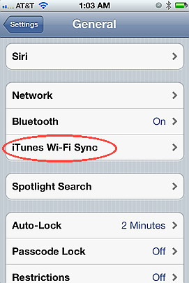 Wireless Sync with iTunes using iOS 5