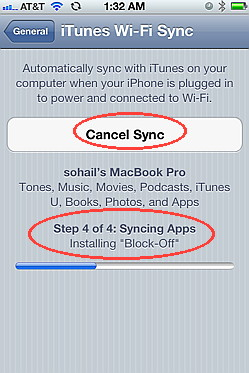 Wireess sync using iPhone 4S running iOS 5