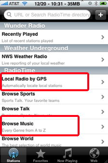 local radio by gps iphone wunderradio