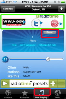 wunder radio itunes web browser