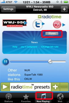 itunes in wunderradio