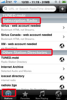 wunder radio subscription and other stations for iphone