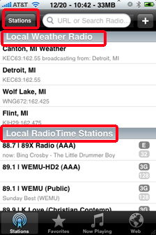 wunder radio local weather iphone