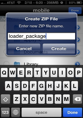 You can zip or unzip a file with iFile for the iPhone