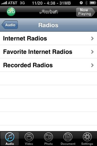 orblive radio, watch TV on iPHone without a TV tuner